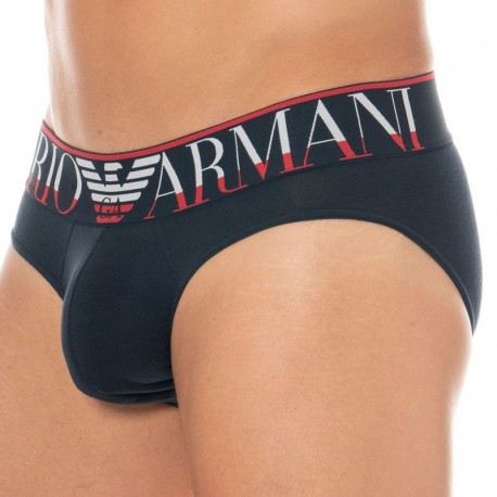 Emporio Armani Megalogo Brief - Navy