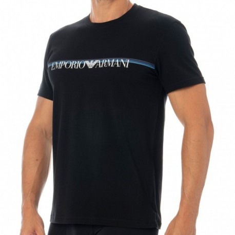 Emporio Armani Multicolor Band T-Shirt - Black