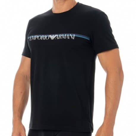Emporio Armani T-Shirt Multicolor Band Noir