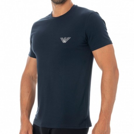 Emporio Armani Pure Organic Cotton Crew-Neck T-Shirt - Navy