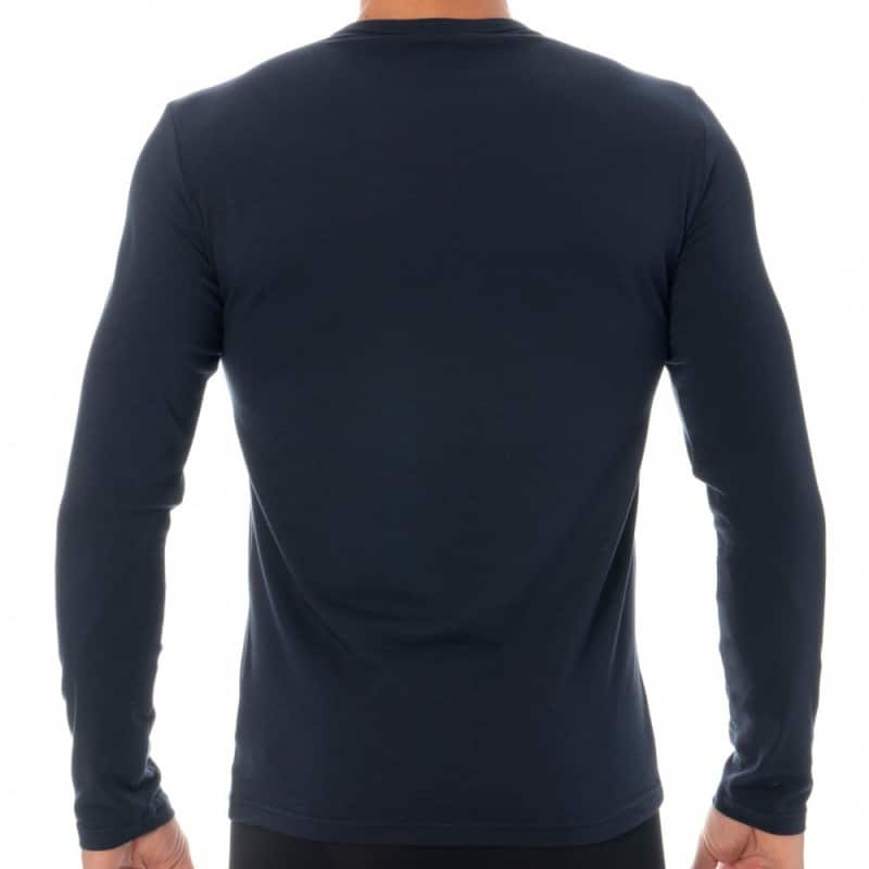 Emporio Armani Monogram Long Sleeves T-Shirt - Navy