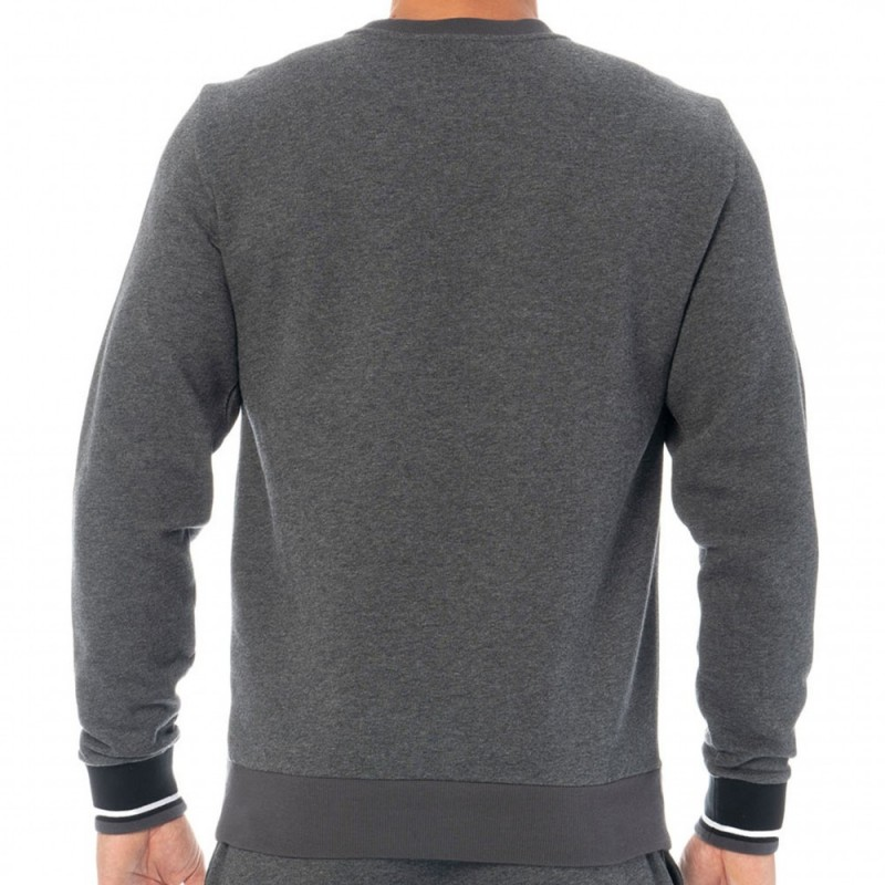 Emporio Armani Sweat-Shirt Iconic Terry Gris Chiné