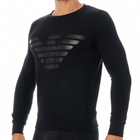 Emporio Armani Sweat-Shirt Terry Megalogo Noir