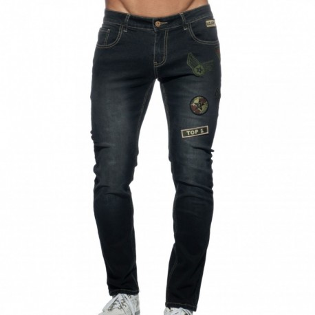 Addicted Patches Jeans - Black