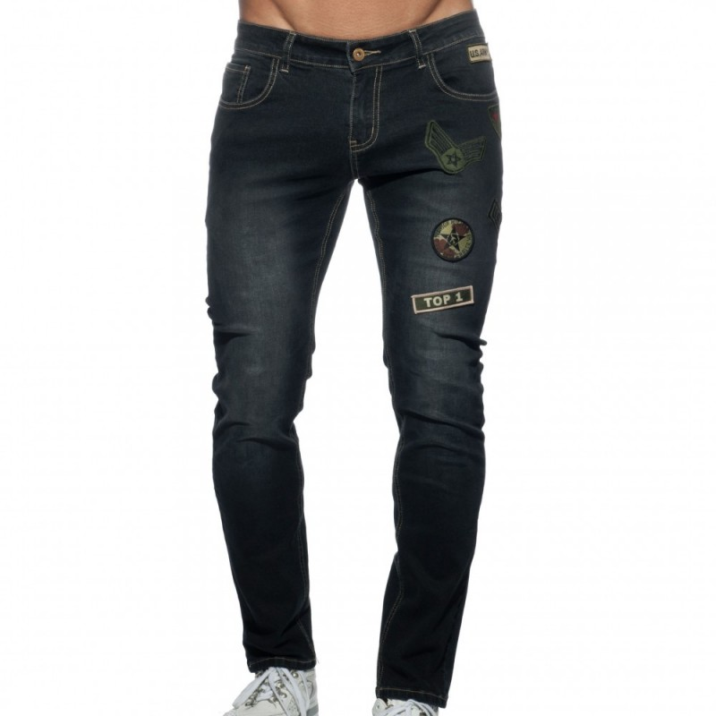 Addicted Jeans Patches Noir