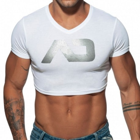 Addicted T-Shirt Crop AD Blanc