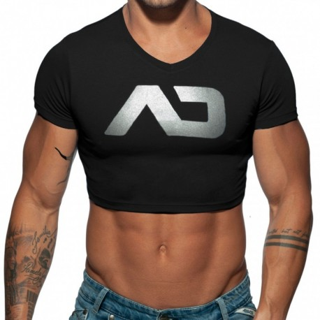 Addicted T-Shirt Crop AD Noir