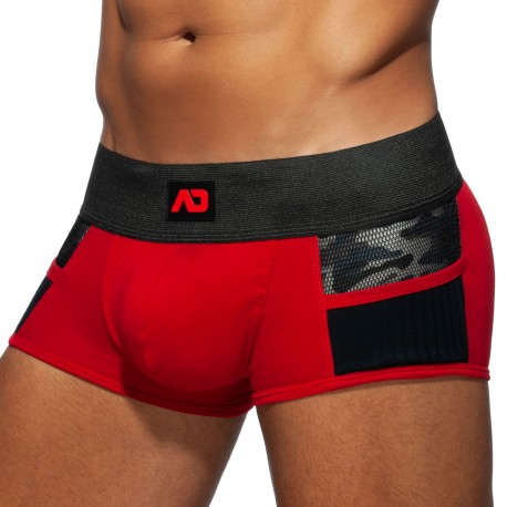 Boxer Combi Army Rouge
