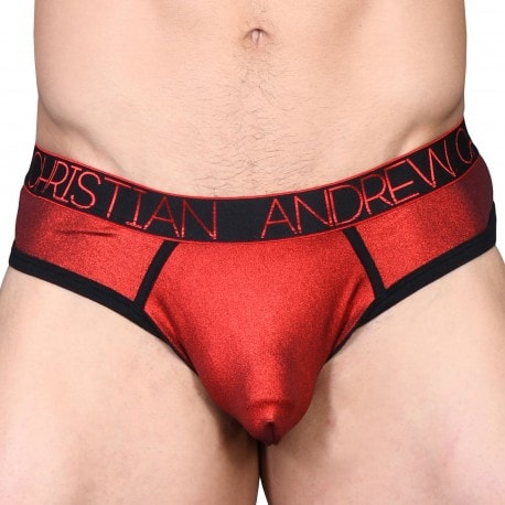 Andrew Christian String Frame Almost Naked Hotness Metallic Rouge