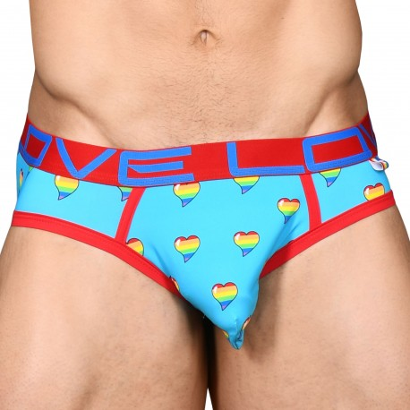 Andrew Christian Love Pride Heart Rainbow Brief