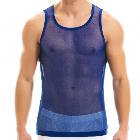 Modus Vivendi Camo C-Through Tank Top - Royal