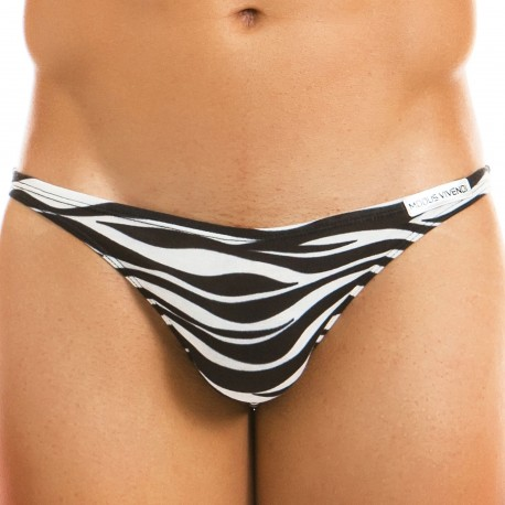 Modus Vivendi Animal Low Cut Brief - Zebra
