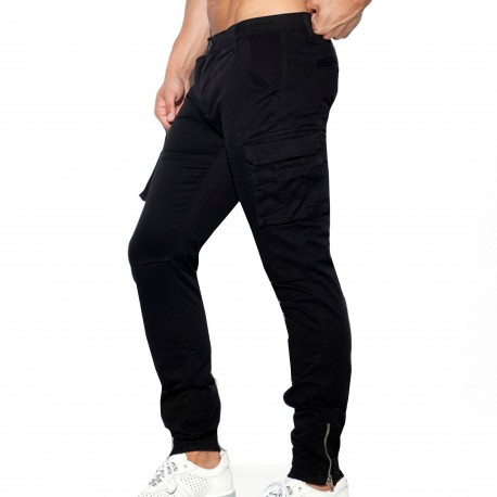 ES Collection Cargo Pants - Black
