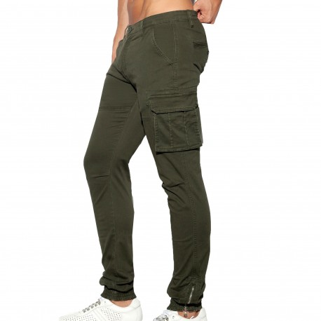 ES Collection Pantalon Cargo Kaki