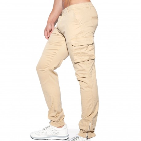 ES Collection Pantalon Cargo Beige