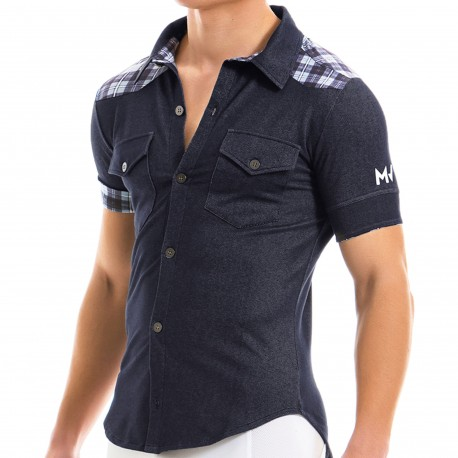 Modus Vivendi Jeans Shirt - Denim - Check