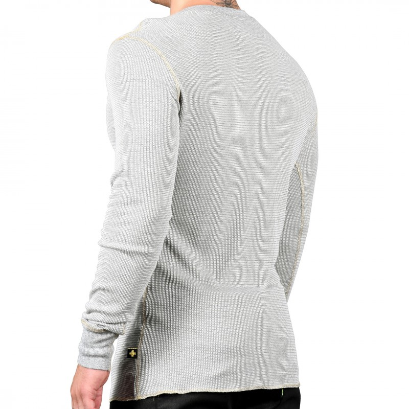 Andrew Christian T-Shirt Laurel Thermal Gris Chiné