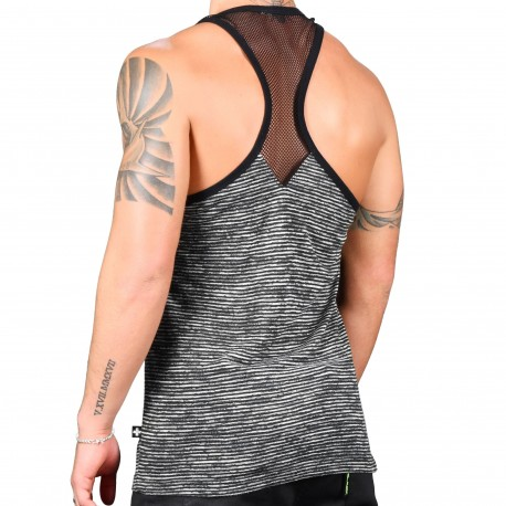 Andrew Christian Parallel Net Tank Top
