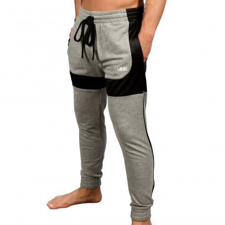 Andrew Christian Pantalon Training Vibe Gris Chiné