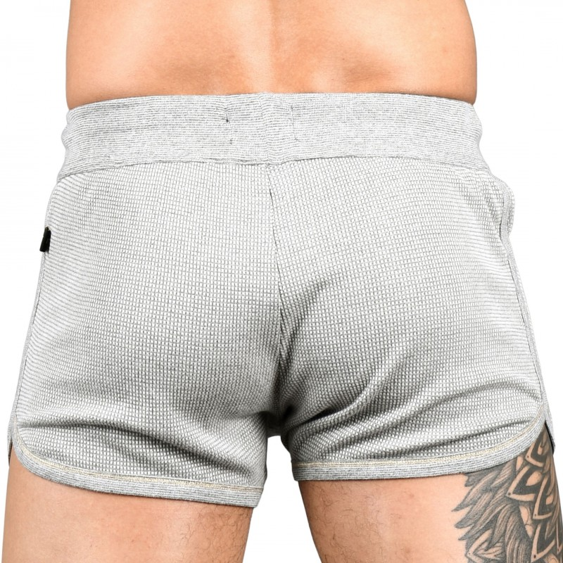 Andrew Christian Short Jogger Thermal Lightning Gris Chiné