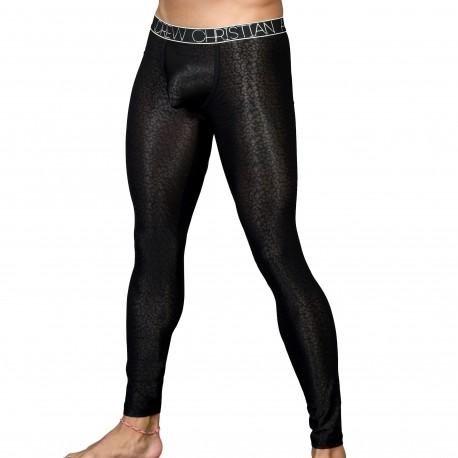 Andrew Christian Legging Almost Naked Sheer Leopard Noir