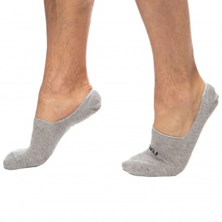 SKU 3-Pack No Show Socks - Grey
