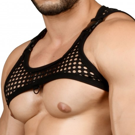 Andrew Christian FUKR Buckle Net Harness - Black