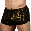 Andrew Christian Short Dance Nightlife Sparkle Noir - Or