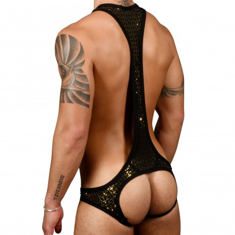 Andrew Christian Almost Naked Nightlife Sparkle Singlet - Black - Gold