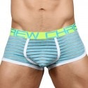 Andrew Christian Boxer Almost Naked Aqua Sheer Stripe