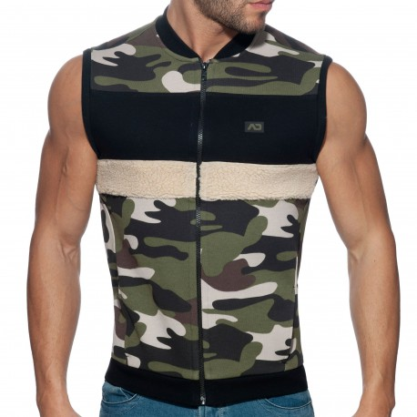 Addicted Camo Combi Vest - Khaki