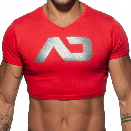 Addicted T-Shirt Crop AD Rouge