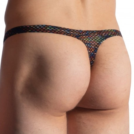Manstore M913 Tower Thong - Black - Multicolor