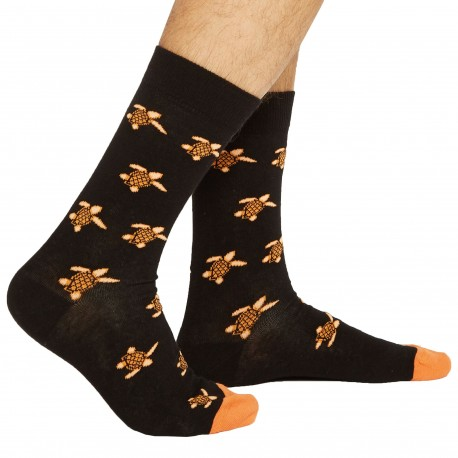 Jipépé Turtle Dress Socks - Black