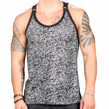 Andrew Christian Harware D-Ring Burnout Tank Top