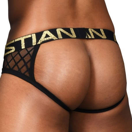 Andrew Christian Jock Strap Almost Naked Lattice Lace Noir