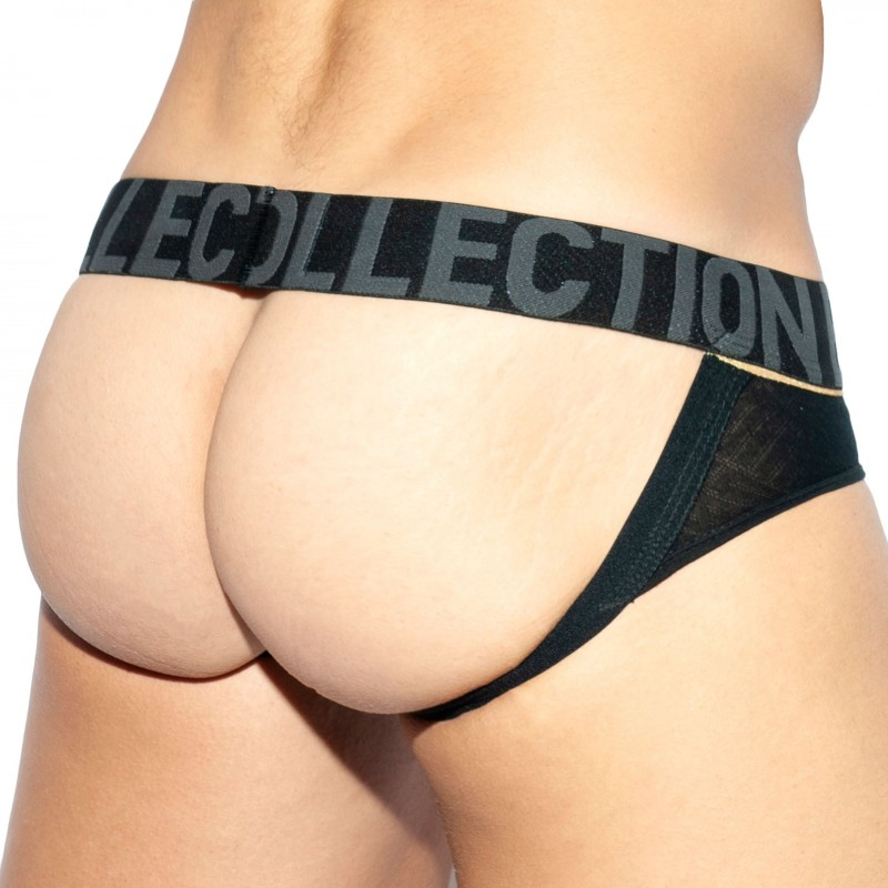ES Collection Jock Strap Mesh Rustic Noir - Or