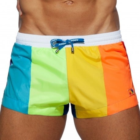 Addicted Short de Bain Rainbow