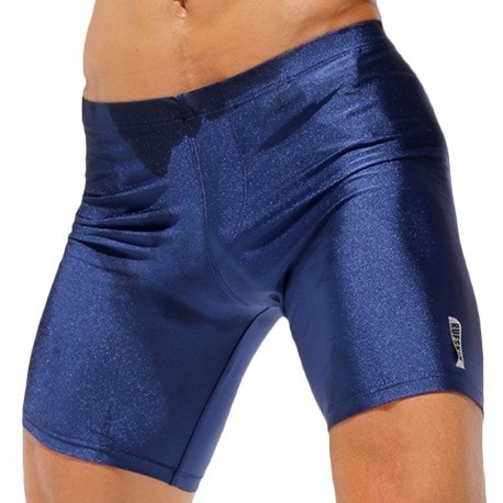 Rufskin Liner Metallic Cycle Short - Navy