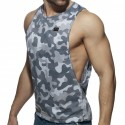 Addicted Débardeur Low Rider Washed Camo Gris