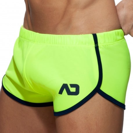 Addicted Ice Cream Rocky Shorts - Neon Yellow