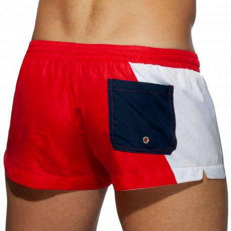 Addicted Racing Side Swim Shorts - Red