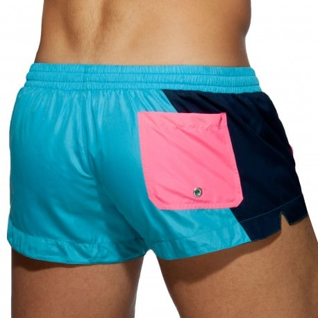 Addicted Short de Bain Racing Side Bleu Turquoise