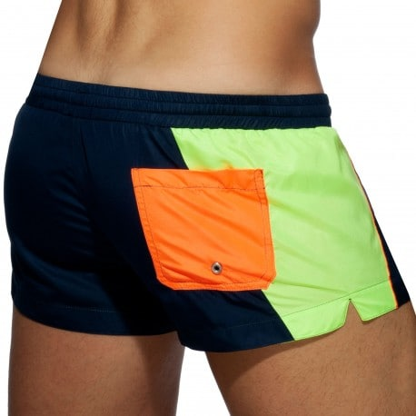 Addicted Short de Bain Racing Side Bleu Marine