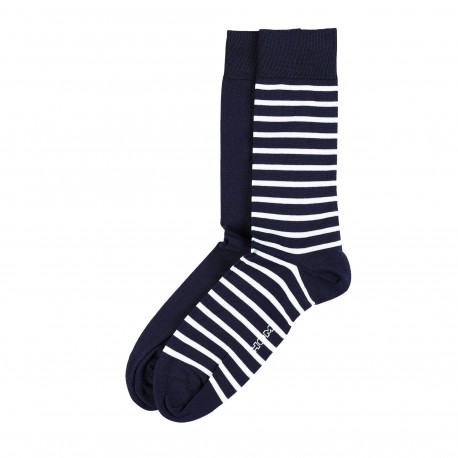 HOM 2-Pack Goelette Dress Socks - Navy Blue