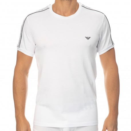 Emporio Armani Core Logoband Cotton Round-Neck T-Shirt - White