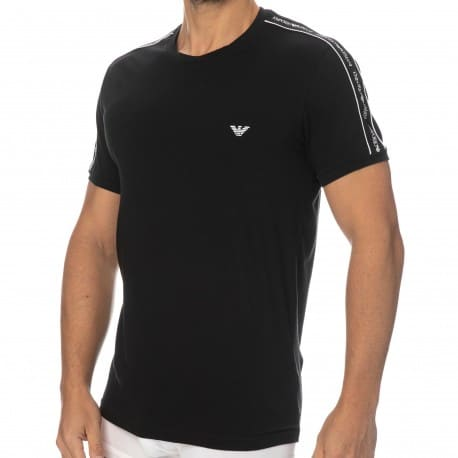 Emporio Armani Core Logoband Cotton Round-Neck T-Shirt - Black