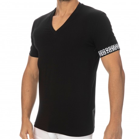 DSQUARED2 T-Shirt Coton 297 Noir