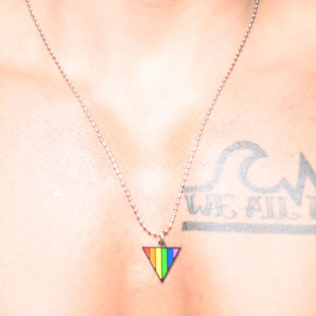 Andrew Christian Pride Triangle Necklace - Rainbow