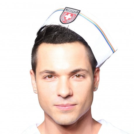 Andrew Christian Pride Sailor Hat - White